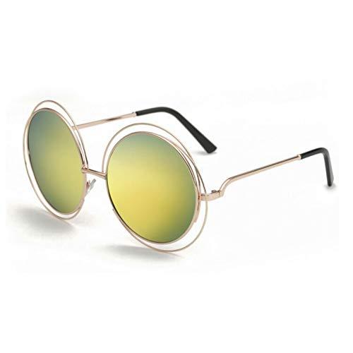 KCJKXC Qualität Große Frauen Sonnenbrille Metall Runde Draht Rahmen Brillen Vintage Übergröße
