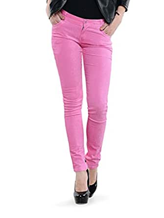 Dashy Club Trendy Pink Cotrise Pants for Women - ( Size: 28 )