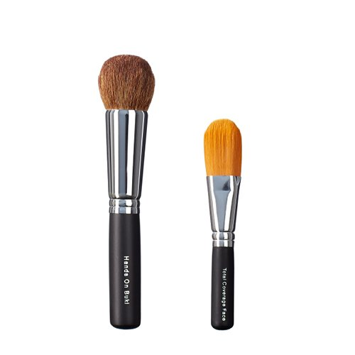 Foto de ON & OFF Mano en Buki y Total Cobertura Face Brush Duo, 1er Pack (1 x 0,25 L)