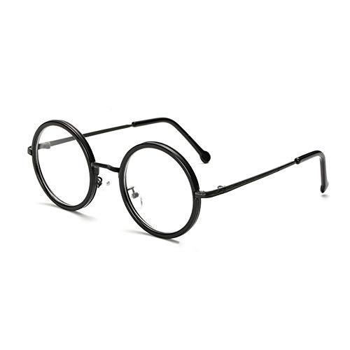 XCYQ Brillengestell Frauen-Runde Lesebrille Metallrahmen Männlicher Weiblicher Glasrahmen