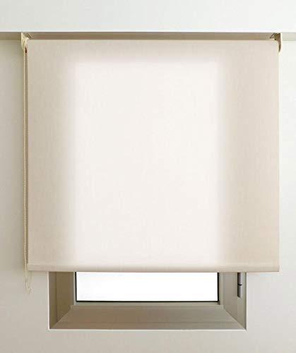 Estor Luminoso Elite (Desde 40 hasta 300cm de Ancho) Permite Paso de Mucha luz, no Permite Ver el Exterior/Interior. Color Arena. Medida 230cm x 180cm para Ventanas y Puertas