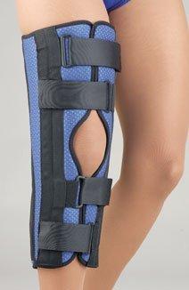 Tri-Panel Foam Knee Immobilizer, 16??Universal Blue by FLA Orthopedics -