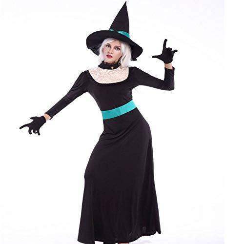 Frau Kostüm Klassischen Teufel - DUQA Schwarze Klassische Hexe Rollenspiel Kost¨¹m Maskerade Kost¨¹m Halloween-Kost¨¹m