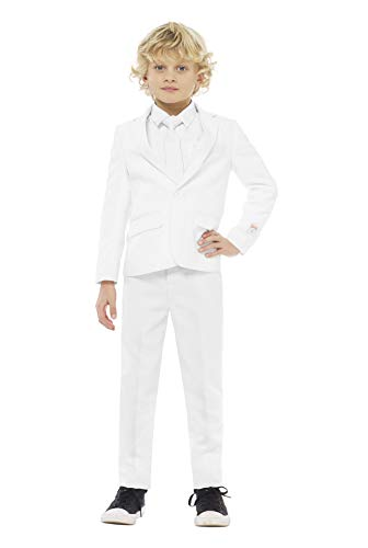 Knight Kostüm White - OppoSuits Crazy Suits for Boys in Different Prints - Comes With Jacket, Pants and Tie In Funny Designs, White Knight, Gr. 134/140