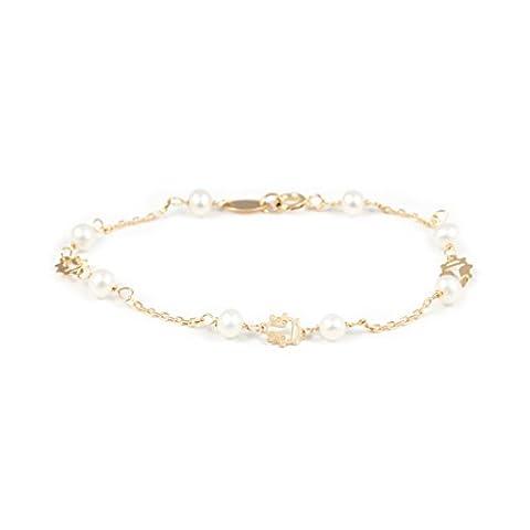 Bracelet Enfant perles Or Jaune 18 Carats