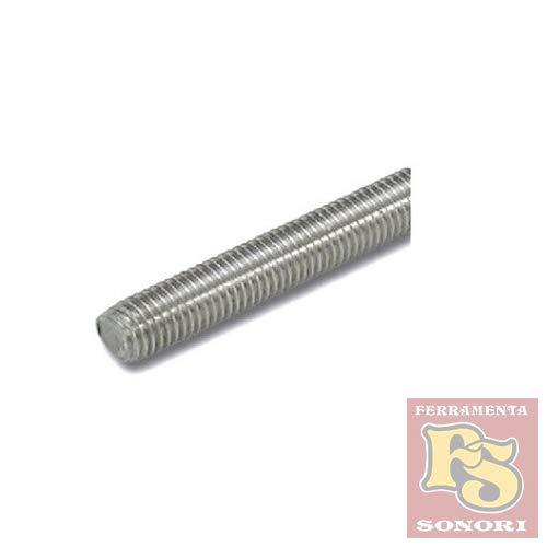 Barra acciaio inox aisi 304 filettata mt 1 mm 14 bulloneria-viteria