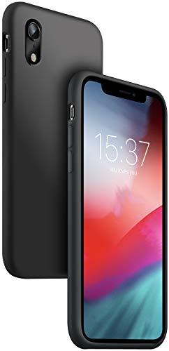 vau Hülle passend für iPhone Xr - Premium Silikon Case Handyhülle schwarz (kompatibel zu Apple iPhone 10r 6.1 LCD 2018)