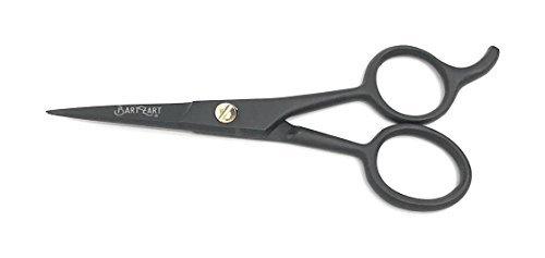 Forbici da barba, 11,5 cm, in acciaio inossidabile, colore nero