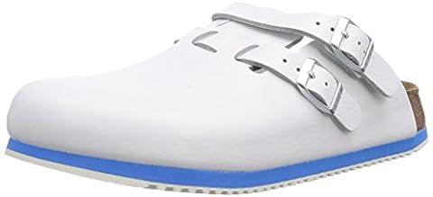 Birkenstock Professional Kay Leder Softfootbed, Damen Clogs, Weiß (Weiß), 42 EU