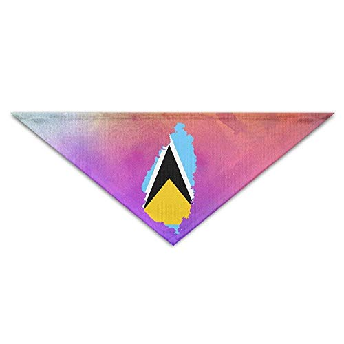 Gxdchfj Pet Scarf Flag Map of Saint Lucia Bandana Triangle Neckerchief Bibs Scarfs Accessories for - Machen Saint Kostüm