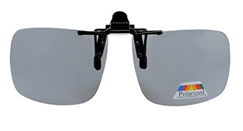Eyekepper Platz klappen polarisierte Clip-on-Sonnenbrillen Grau