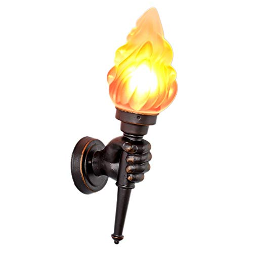 American Torch Light Outdoor Wandleuchten Gang Garten Restaurant Shop Tor Veranda Dekoration Weihnachten Halloween Torch Flamme Lampe E27 (Größe : Left)