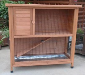 Pisces Milan Deluxe 4ft Rabbit Hutch - 2 Storey from Pisces