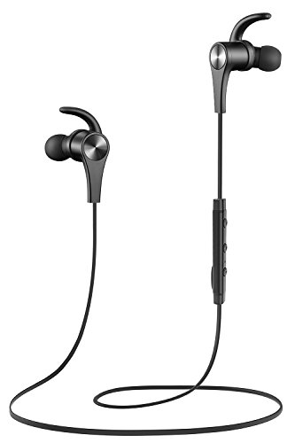 Bluetooth Headphones, SoundPEATS Wireless Earbuds 4.1 Magnetic Bluetooth Earbuds APTX Stereo Sports Workout Earphones With Mic, 7 Hours Play Time, Secure Fit, Noise cancelling