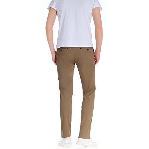 Herren Robelli Slim gerader Schnitt 100% Baumwolle Designer Chino Hose Zeder braun