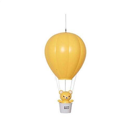 Chambre À Coucher Chevet Veilleuse Lumière Créative Montgolfière Pour Enfants Télécommande Dortoir USB Cadeau Lumière Nuit (Couleur : Jaune, edition : Remote control version)