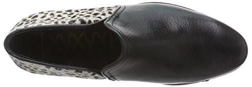 XYXYX  Booty, Bottes Chelsea courtes, doublure froide femmes Multicolore (black/beige)