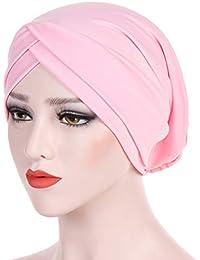 iKulilky Donna Semplice Berretto Turbante per la Perdita di Capelli Cancro  chemioterapia (Rosa) c72640cc3ad3