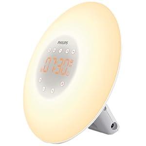 Philips Wake-up light HF3505 / 01 – Dämmerungssimulator mit LED-Licht (10 Einstellungen) und Touch-Oberfläche – Weiß
