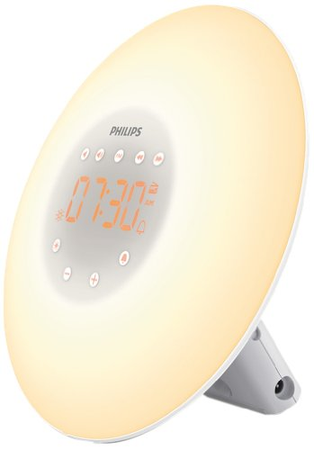 Philips HF3505 Light Therapy, simulador de amanecer con lámpara LED (10 configuraciones) e interfaz táctil, blanco