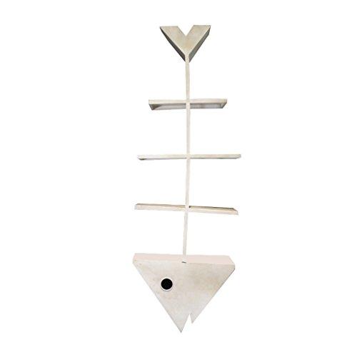 Eisenwand Floating Regal Partition für Wohnzimmer Schlafzimmer Home Kommerziellen Dekorative Display Bücherregal Lagerregal Kreative Retro Loft Industriellen Stil 4 Tier 40 × 17 × 120 cm ( Farbe : Weiß )