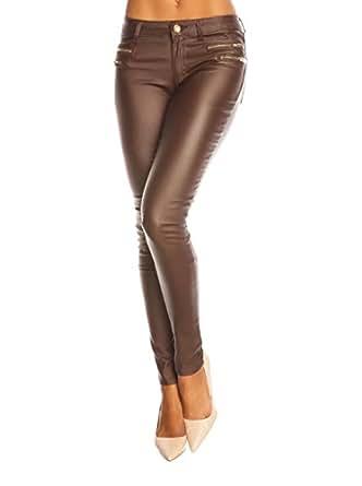 ETERNALLY - Pantalon - Femme Marron chocolat S