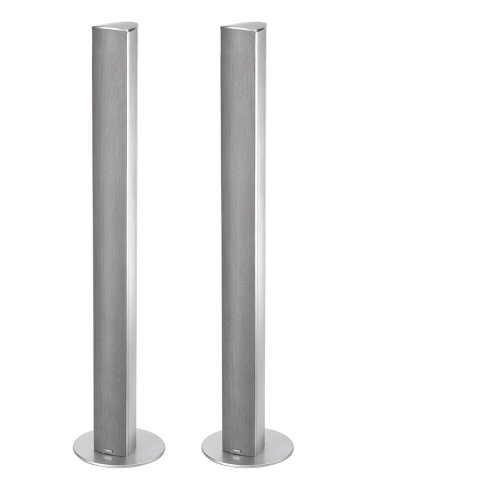 Magnat Needle Alu Super Tower I 1 Paar 2-Wege Säulenlautsprecher I Schlanke Design-Lautsprecher mit elegant gebürstetem Aluminiumgehäuse - Silber