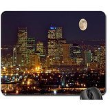 Full Moon Hinter City Mauspad, Mousepad (Wolkenkratzer Maus Pad)