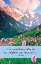 Church Bulletin - My Rock; Psalm 62:2 by Broadman Holman