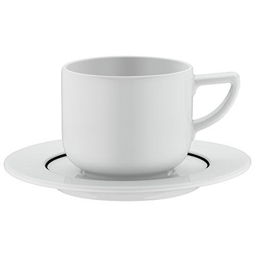 WMF Tee-/Kaffeetasse mit Untertasse Michalsky Tableware dekoriert Porzellan Made in Germany...