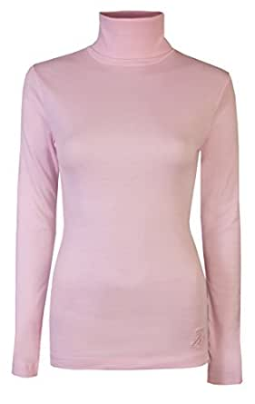 Perfect for layering under a cardi or fleece, our ladies' roll neck tops, cowl necks and polo neck tops for women are a versatile and useful addition to any wardrobe. Made from soft combed cotton, our women's roll neck tops or women's turtle neck tops are cut for a figure-flattering fit.