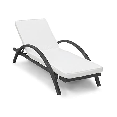 31Tvdevy9GL. SS500  - Harts Premium Rattan Sunlounger, thick comfortable cushion, Adjustable Back, Recliner Sun Bed