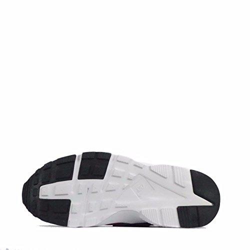 nike huarache run (GS) scarpe sportive 654275 scarpe da tennis Black/Black/Cool grigio/Rosso/Bianco