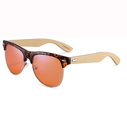 Blaulicht-Schutzbrille, Leichte UV-Filterlinse, Classic Round für Männer Frauen Anti-Augenbelastung Anti-Blue Ray-Lesebrillen für Frauen/Männer Bambus-2
