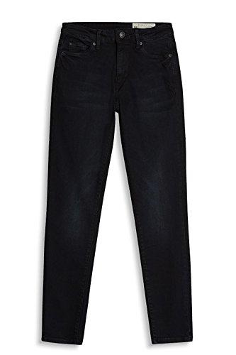 ESPRIT Damen Skinny Jeans Schwarz (Black Dark Wash 911)