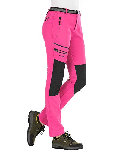 DENGBOSN Pantalones Montaña Mujer Impermeables Invierno