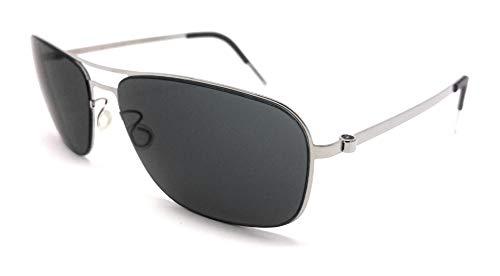 Unbekannt Lindberg Damen Sonnenbrille Silber silber/schwarz 56