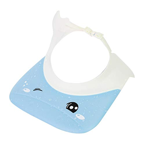Baby-Shampoo-Kappe Baby-Duschhaube-wasserdichte Ohrenschützer-Badekappe-Kindershampoo scherzt wasserdichte Kappe (Farbe : Blau)