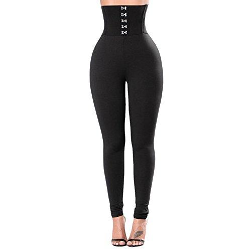 LAEMILIA Damen Leggings Elegant Hohe Taille Lang Enge Strumpfhosen Causal Hose Bleistifthose yoga Treggins Frühling Finessehose