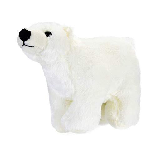 Ogquaton Weihnachten kuscheln Eisbär Plüsch weiche Kuscheltier Plüsch Puppe Spielzeug für Kinder Geburtstage Geschenk Kawaii Floppy Collection langlebig und praktisch