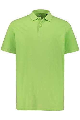 Muster 100% Baumwolle (JP 1880 Herren große Größen bis 8XL, Poloshirt, Oberteil, T-Shirt mit Knopfleiste & Hemdkragen, Pique, Reine Baumwolle Lime 6XL 702560 48-6XL)