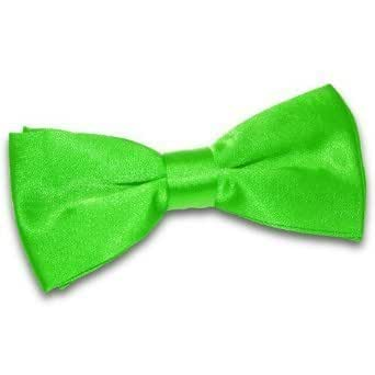 New DQT Plain Apple Green Mens Pre-Tied Bow Tie