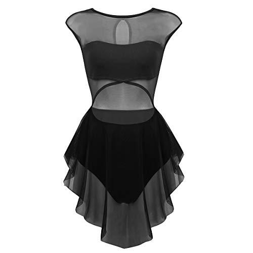 2e8889c8f2c66 CHICTRY Robe Danse Latine Femme Asymétrique de sans Manche Robe Danseuse  Rumba Zumba Salsa Robe de