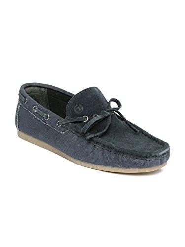 Carlton London Men Navy Boat Shoes