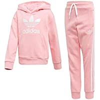 separation shoes 4519d b3926 adidas Trefoil Hoodie, Tuta Unisex Bimbi, Light PinkBianco, 3-4A