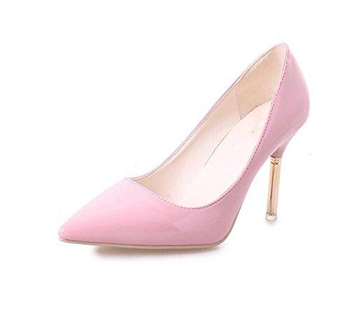 LDMB Women's Nude Farbe high-heeled Schuhe zeigte Braut Schuhe Pink