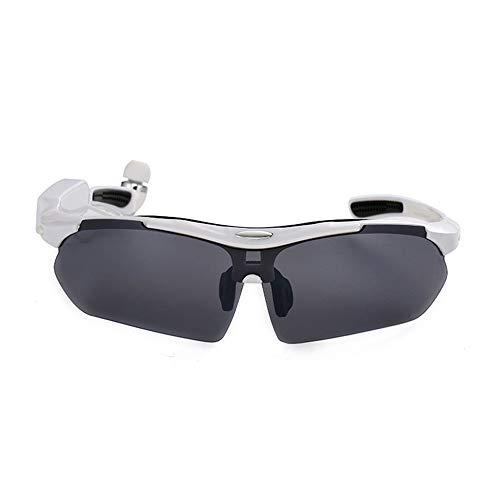 JAY-LONG 4.1 Stereo-Bluetooth-Smart-Sportbrille, Polarisierende Multifunktionsbrille, Augenschutz Und Blendschutz Mit FüNf Farben,White