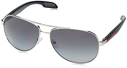 Prada Sport Herren 0PS53PS 1BC5W1 62 Sonnenbrille, Schwarz (Black/Grey) (Prada-sonnenbrille)