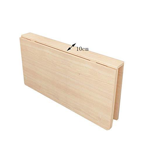 ZND Einfache Wand-Tisch Laptop Stand Schreibtisch Faltbarer Schreibtisch Home Küche Massivholz, 12 (Farbe: Holzfarbe, Größe: 100X60Cm), Holzfarbe,