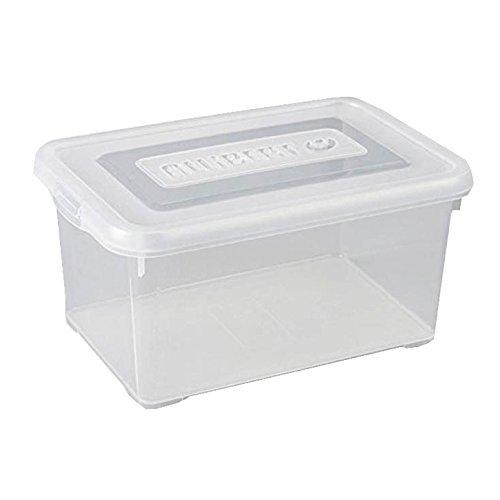 Allibert 227896Handy Box Deckel zu Click transparent Kunststoff 29x 19x 14cm 6l